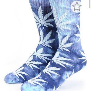 HUF Plantlife Blue Tie Dye Crew Socks
